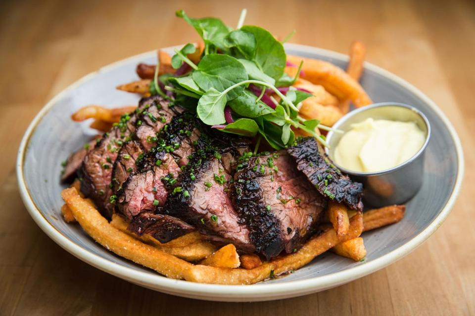 Steak frites at Sycamore in Newton.