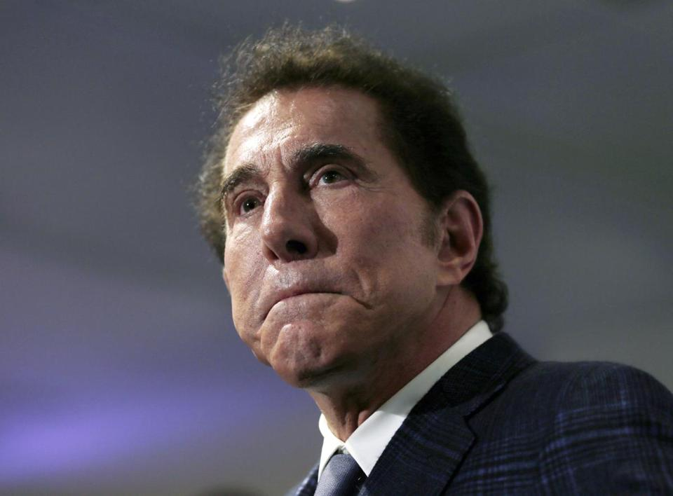 Casino mogul Steve Wynn at a 2015 news conference in Medford.