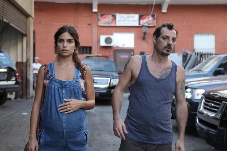"Rita Hayek and Adel Karam in ""The Insult."""