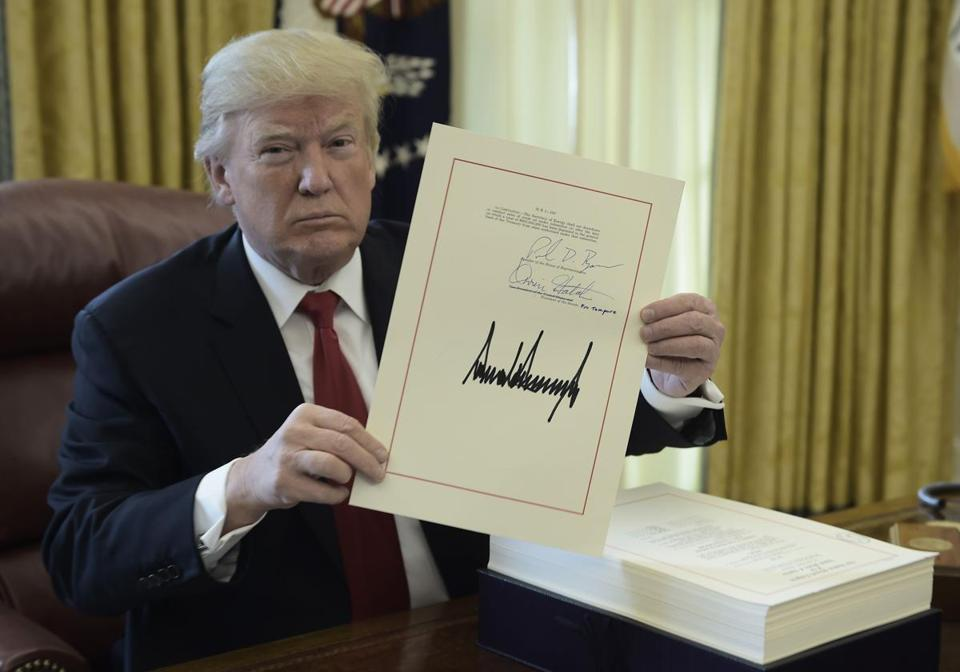 President Trump signed the Tax Cut and Reform Bill on Dec. 22.