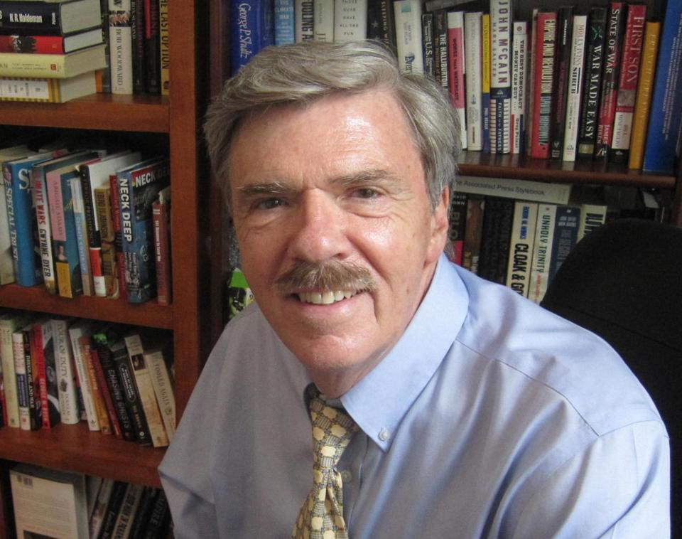 This photo provided by Diane Duston shows Robert Parry. Parry, a longtime investigative journalist who was a Pulitzer Prize finalist in 1985 for his Associated Press exclusives about the CIA's production of an assassination manual for Nicaraguan rebels, has died at age 68. Parry died Saturday, jan. 27, 2018, in hospice care after a series of strokes brought on by undiagnosed pancreatic cancer. That, from his wife, Diane Duston. (Photo Provided by Diane Duston via AP)