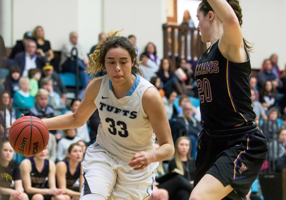 Melissa Baptista has averaged just over 10 points a game during her career at Tufts. (Tufts University)