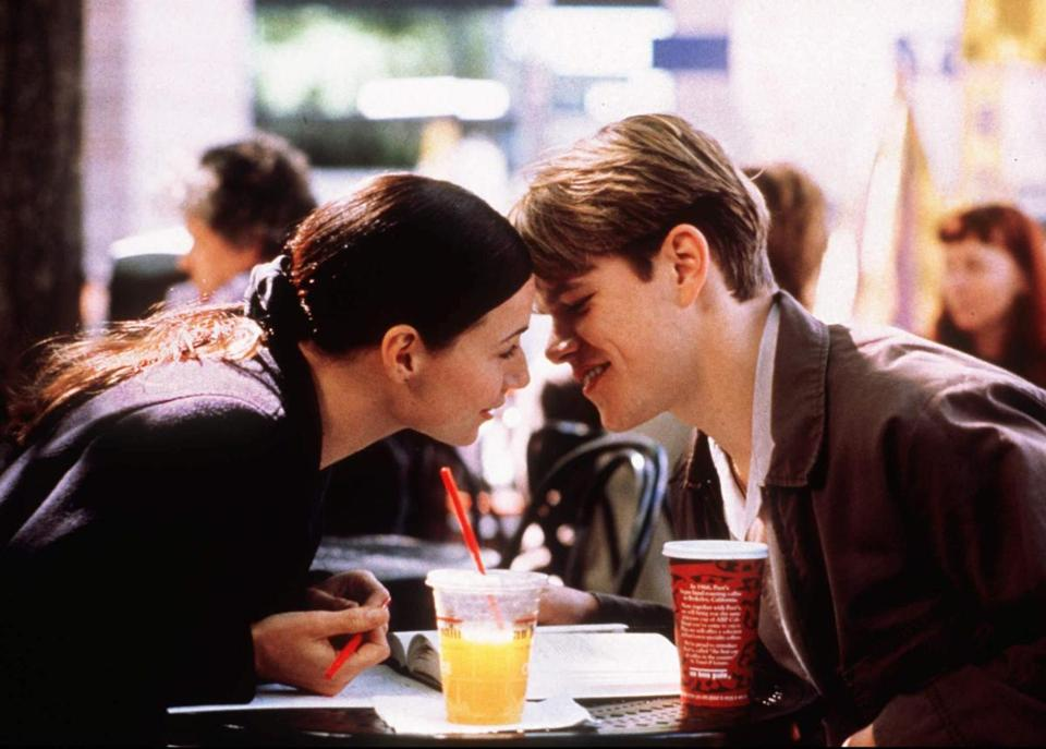 "Minnie Driver and Matt Damon in ""Good Will Hunting."""