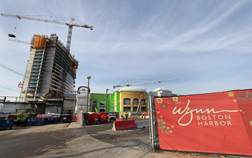 The new Wynn Boston Harbor casino in Everett is more than half built, but Steve Wynn's name hasn't been installed atop the 27-story structure yet.