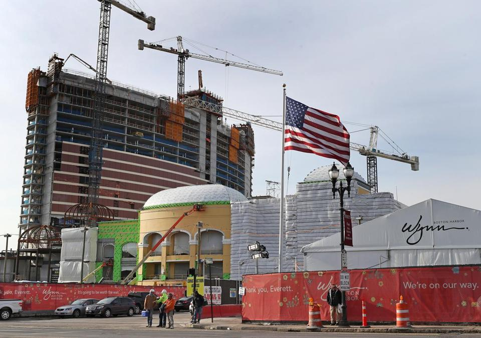 EVERETT, MA - 2/01/2018: Construction progress at Wynn Casino in Everett (David L Ryan/Globe Staff ) SECTION: METRO TOPIC 02wynncasino