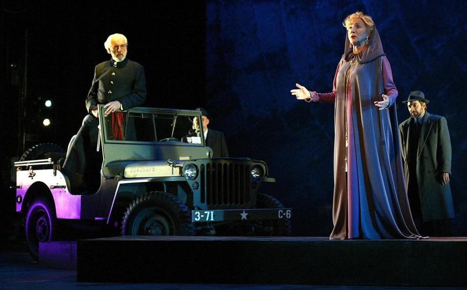 "Mr. Zorich (in Jeep) and his wife, Olympia Dukakis, starred in Aeschylus's ""Agamemnon'' at the John Jay College Theater in New York in 2004."
