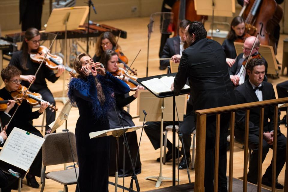 Andris Nelsons (with the BSO and soprano Kristine Opolais) conducted only the Shostakovich portion of Thursday's program.