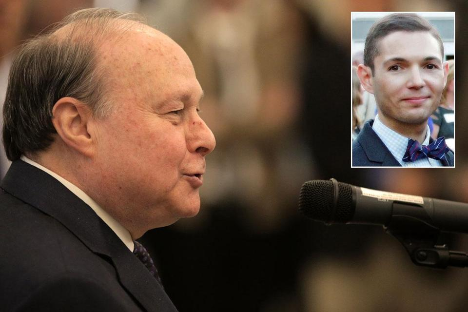 When sexual misconduct allegations were leveled against Bryon Hefner (inset) late last year, state Senate President Stan Rosenberg reassured colleagues that his husband had no influence on Senate business.