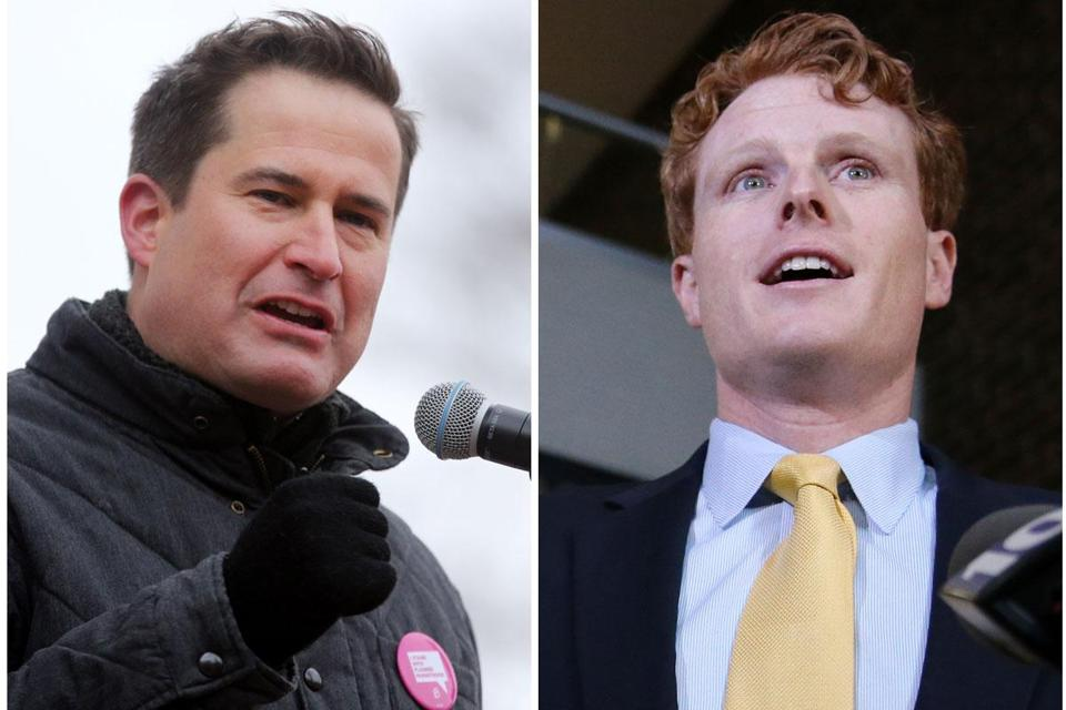 Members of the Massachusetts congressional delegation and other observers say Representatives Seth Moulton (left) and Joe Kennedy have an amicable relationship.