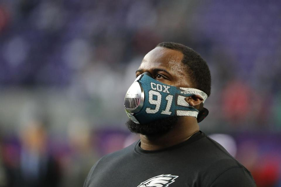 Eagles defensive tackle Fletcher Cox has one sack and eight tackles this postseason.