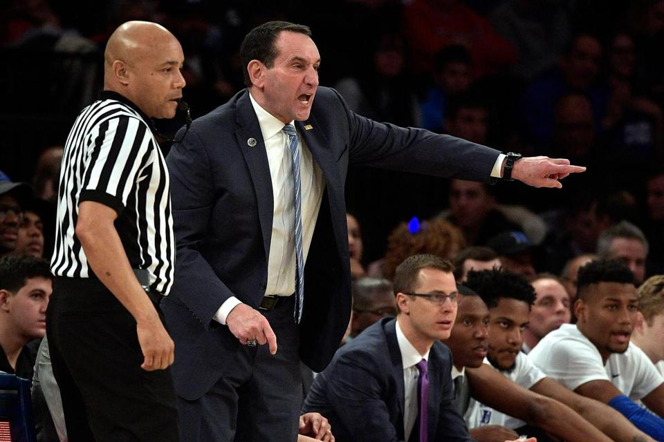 Mike Krzyzewski is trying to get Duke straightened out after losing two of its last three games and facing a matchup at North Carolina on Thursday.