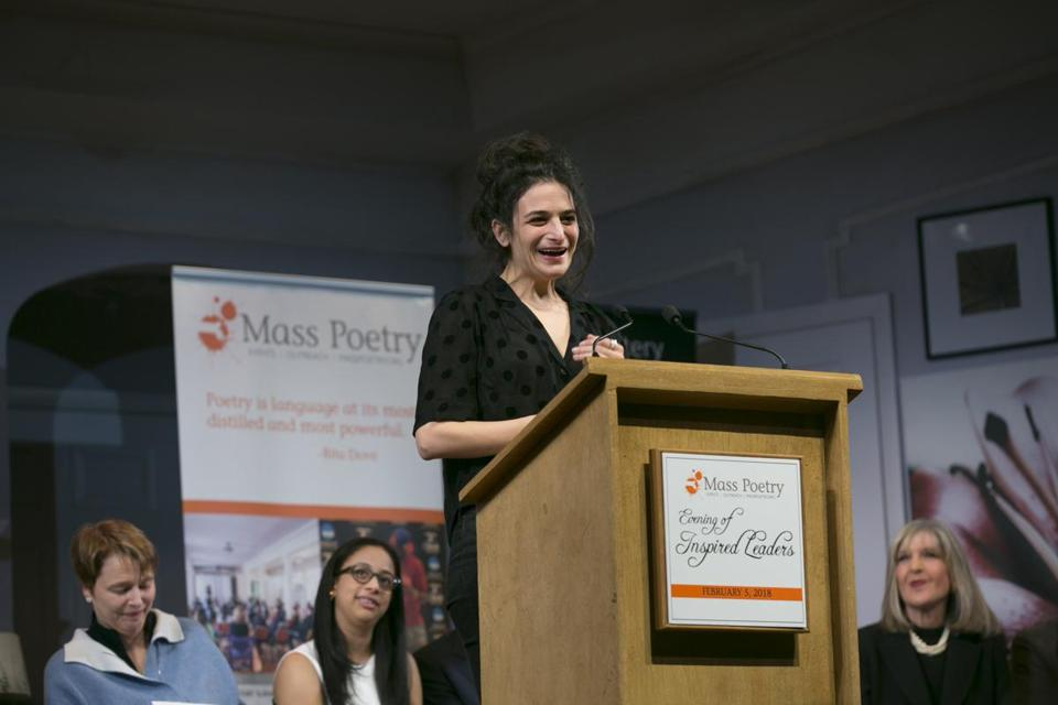 "Jenny Slate was among those taking part in Mass Poetry's ""Evening of Inspired Leaders."""
