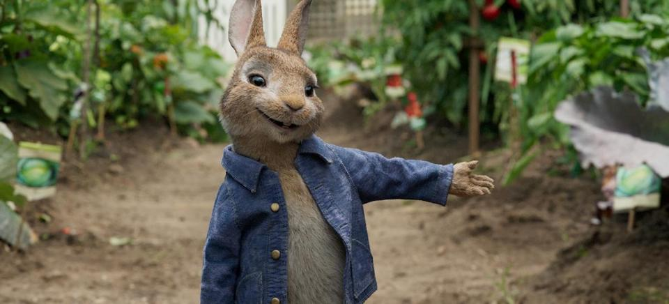 "James Corden voices the title character in ""Peter Rabbit."""