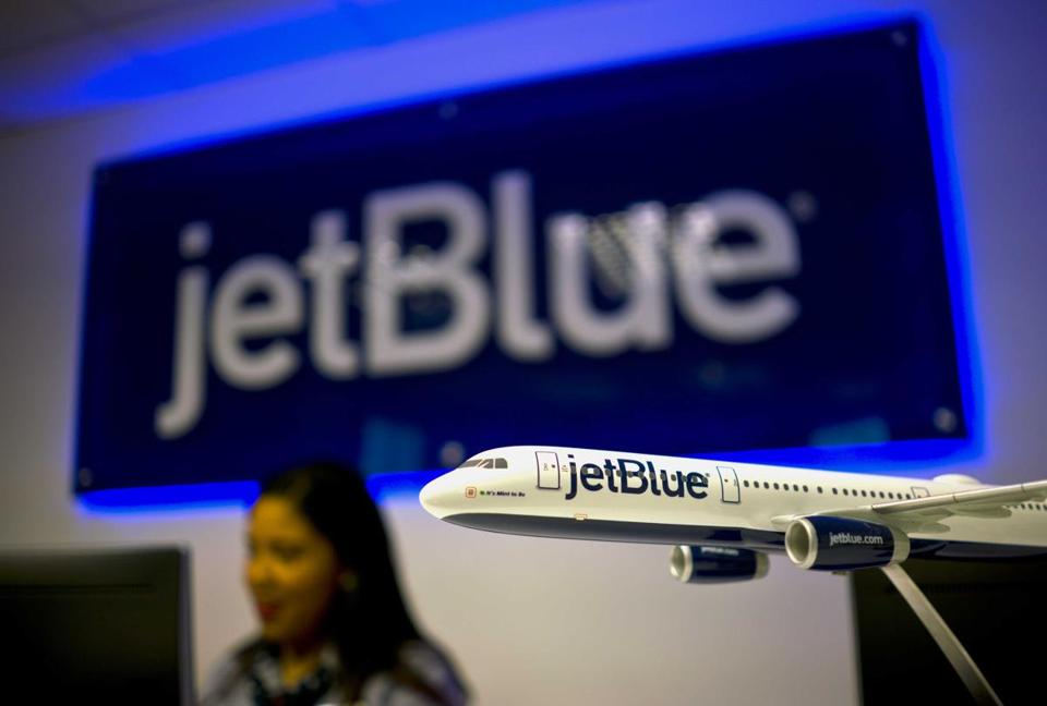 The workers for ReadyJet and Flight Services & Systems primarily serve JetBlue Airways and are protesting what they say are threats and intimidation from management as they attempt to organize a union.