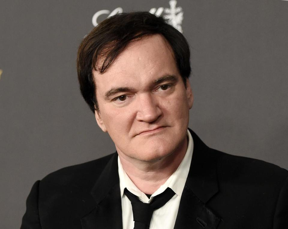FILE - In this Jan. 10, 2016 file photo, Quentin Tarantino arrives at The Weinstein Company and Netflix Golden Globes afterparty in Beverly Hills, Calif. Tarantino has apologized to Roman Polanski rape victim Samantha Geimer for comments he made in a 2003 radio interview with Howard Stern. (Photo by Chris Pizzello/Invision/AP, File)