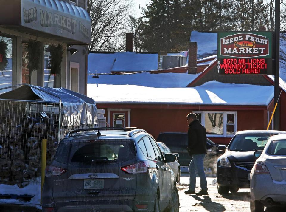 The Jackpot-winning ticket was sold at the Reeds Ferry Market in Merrimack, N.H. in January.