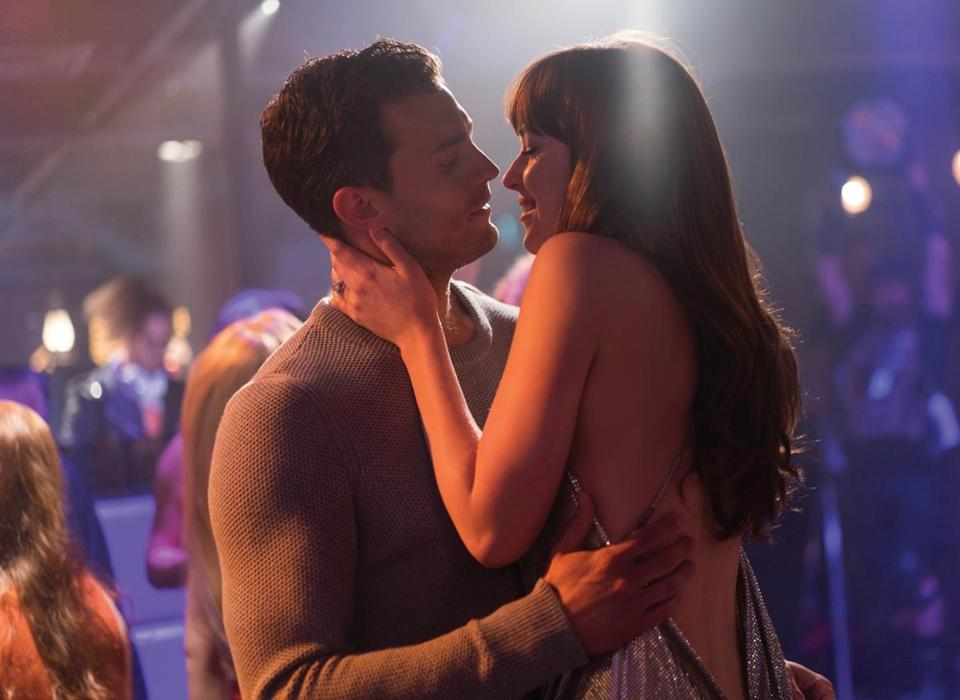 """Fifty Shades Freed,"" starring Jamie Dornan and Dakota Johnson, finished at the top spot at the box office this weekend."