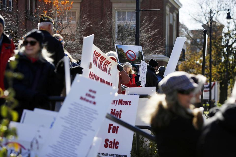 A November protest outside the Berkshire Museum in Pittsfield demonstrated opposition to the planned sale of 40 works of art, including two by Norman Rockwell.