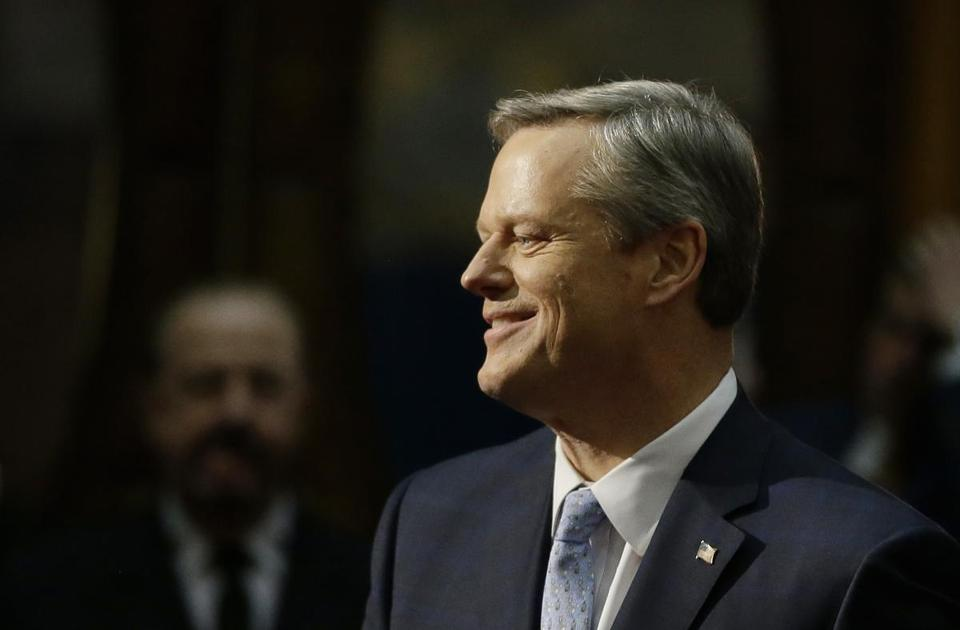 Governor Charlie Baker on Thursday called for a slower, two-phase rollout of the voter-approved marijuana industry.