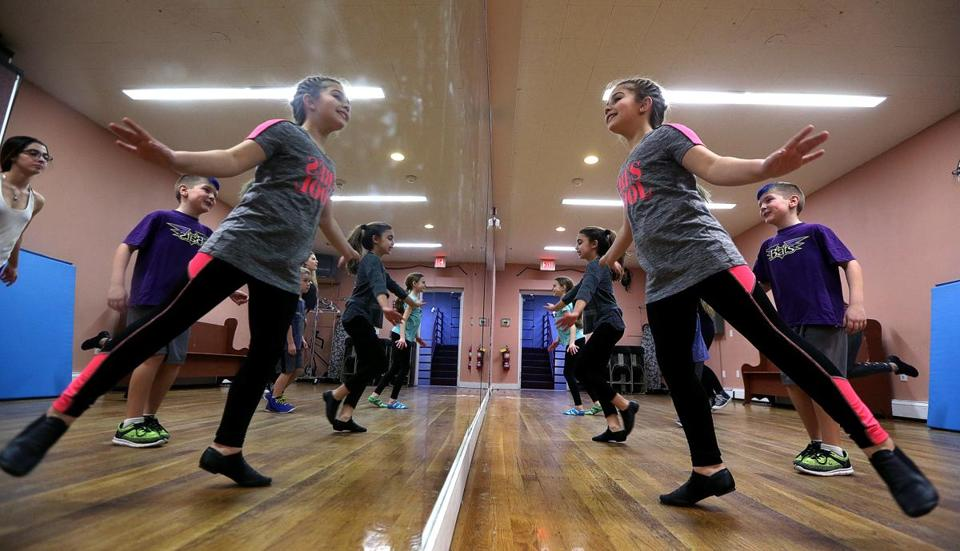 A rehearsal was underway at the Orpheum Theatre in Foxborough on Feb. 8 for a production exploring dance from the 1920s to today.