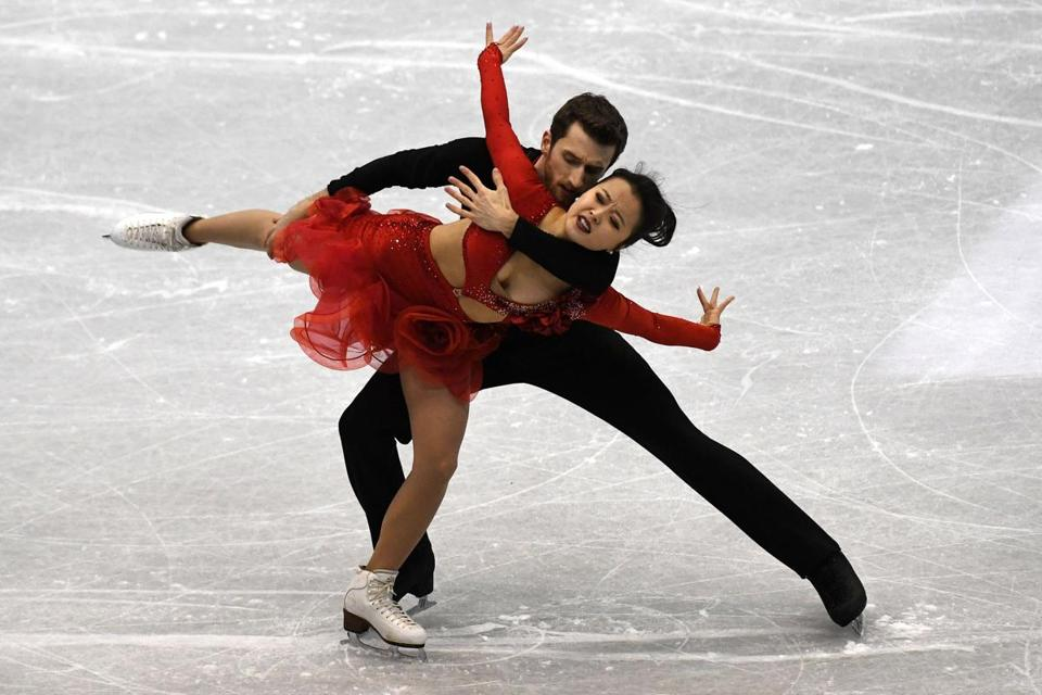 Ice dancers Alex Gamelin and Yura Min placed 20th at last year's world championships.