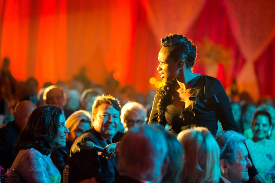 Jennifer Hudson performing at the Dana-Farber event over the weekend.