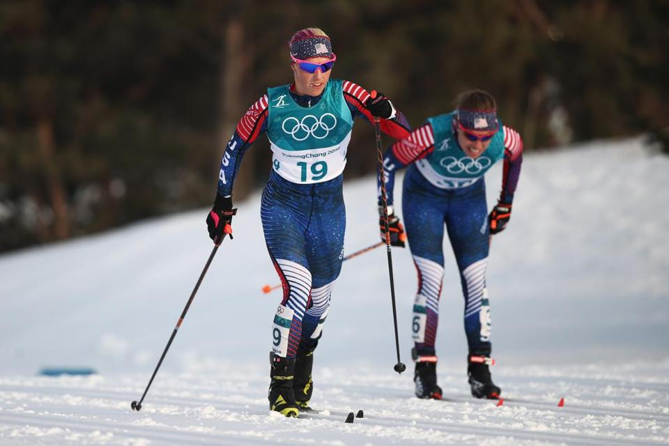 American cross country skier Kikkan Randall returned to the top of her sport after taking a break to give birth to her son.
