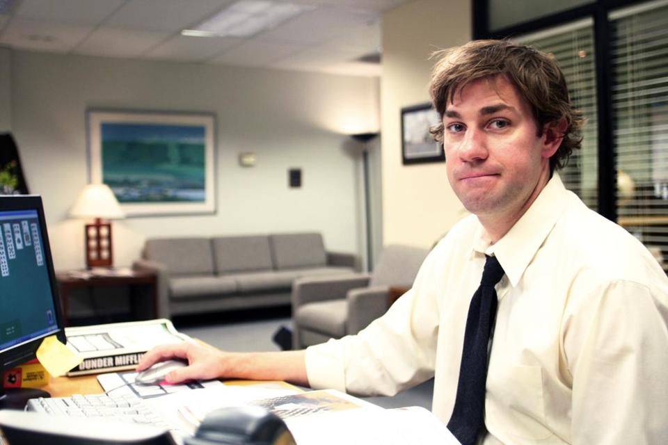 John Krasinski as Jim Halpert.