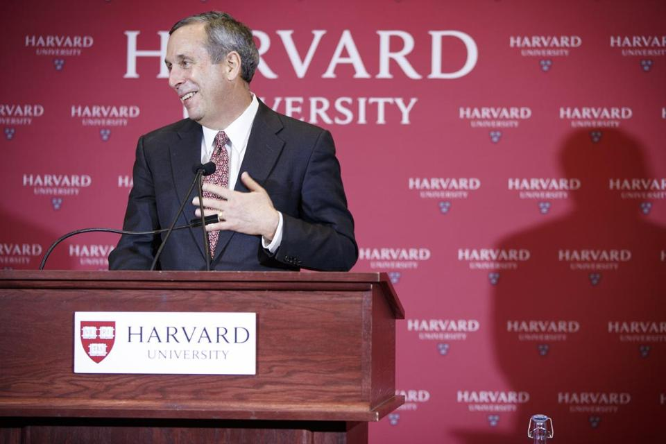 Harvard president Lawrence S. Bacow.