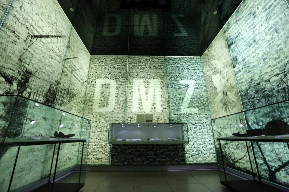 A general view over a part of the Korean DMZ Museum.
