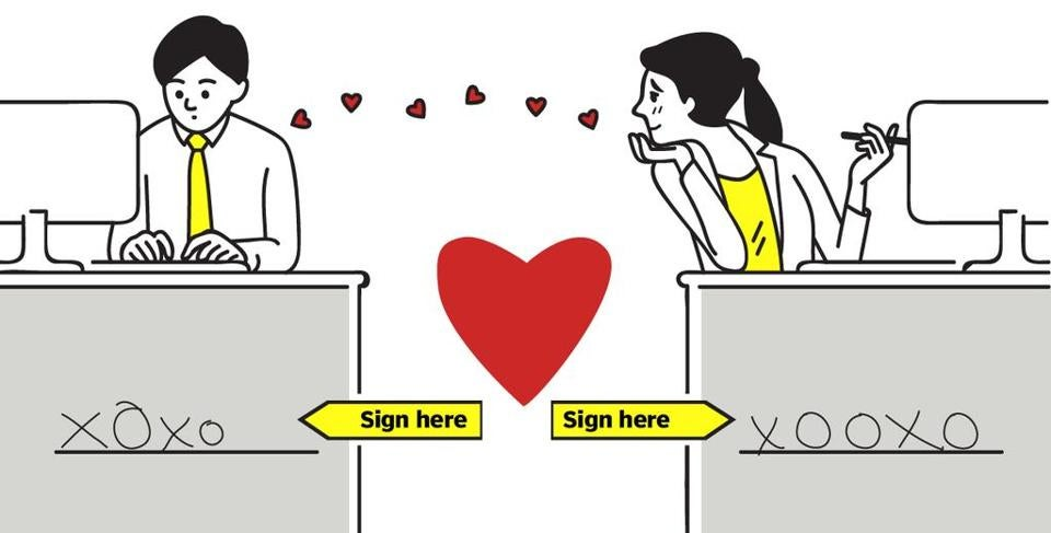 Dating A Co Worker You May Need A Love Contract The Boston Globe