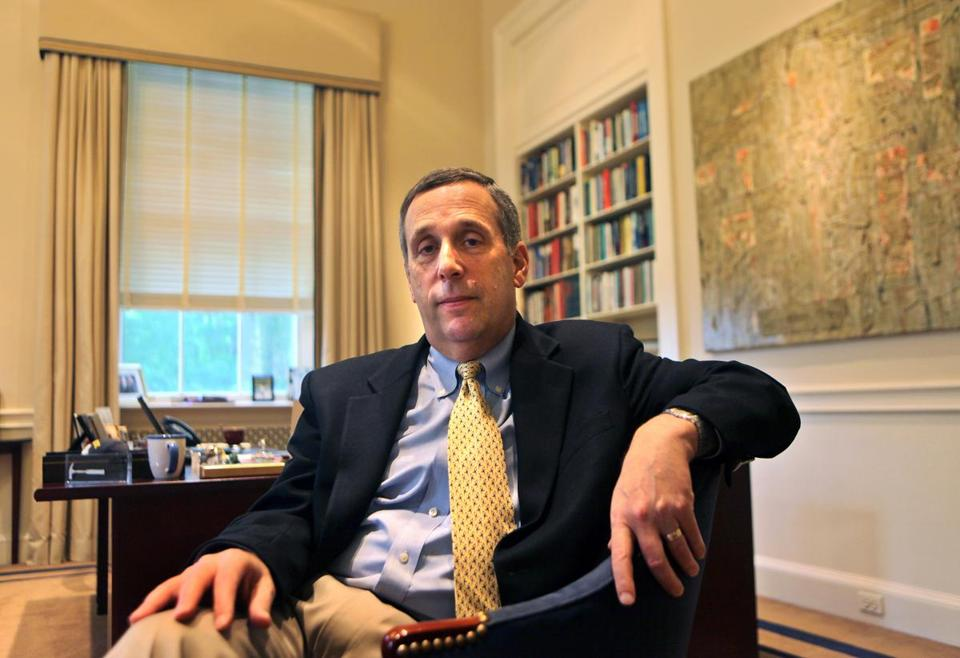 One of Lawrence Bacow's goals at Tufts University was moving from a merit-based to a need-based system of student aid.
