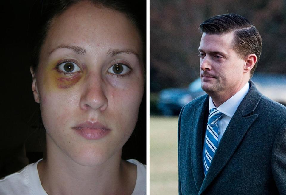 Rob Porter's ex-wife Colbie Holderness says Porter gave her a black eye on an Italy trip in 2005.