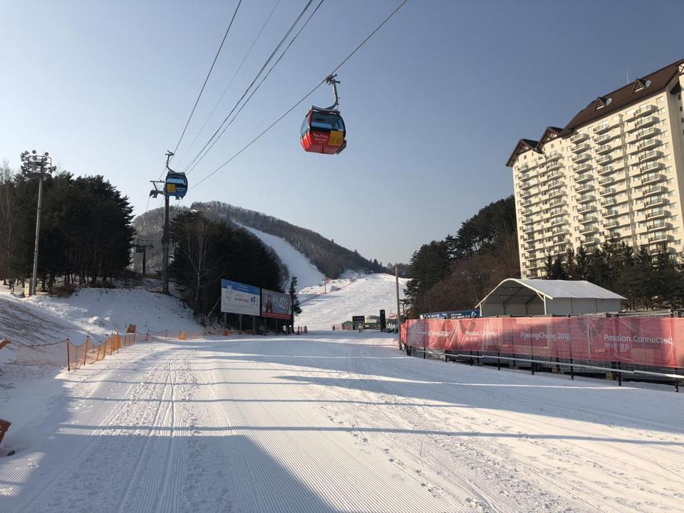 The gondola at Yongpyong.