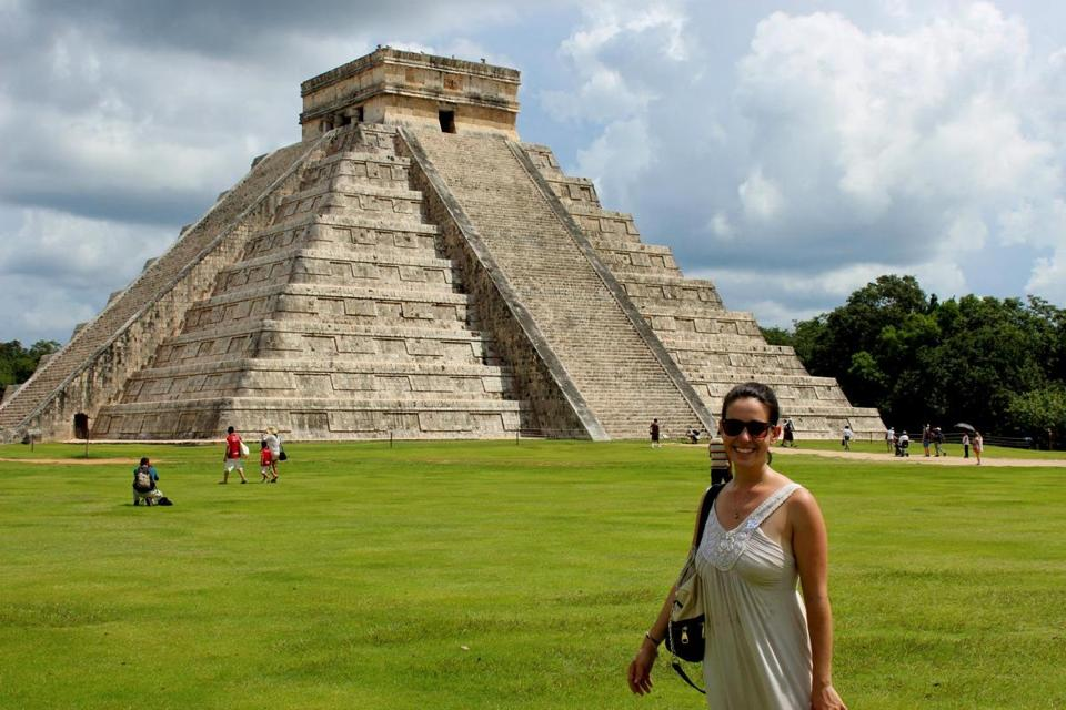 Wanderful founder Beth Santos in Chichen Itza, Mexico.
