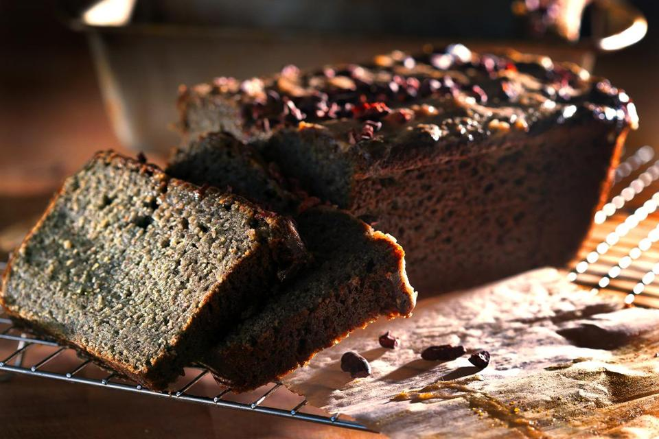 Charcoal banana bread