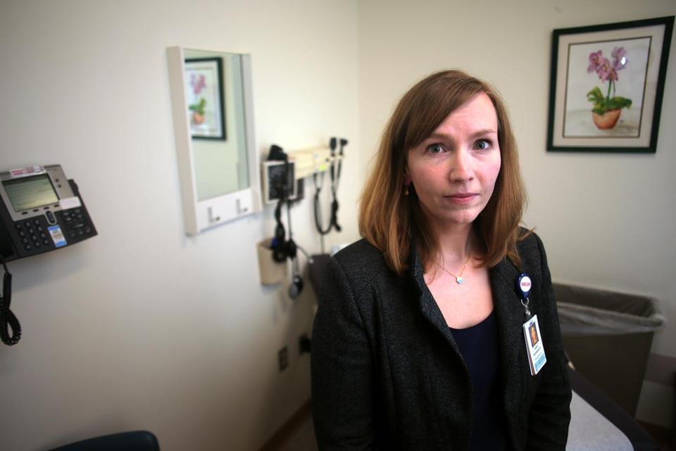Chelsea, MA - 02/13/18 - Dr. Audrey Provenzano, who wrote an essay about why it's important for regular docs to treat patients with addiction, and why it's so difficult. () Reporter: (Felice Freyer) Topic: (15primarycare)