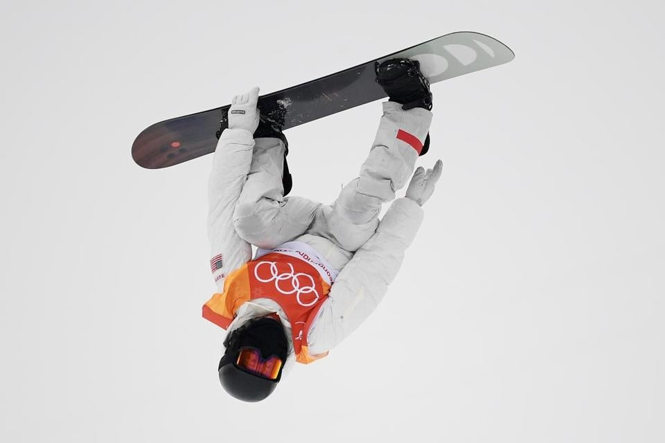 White took to the air during the competition.
