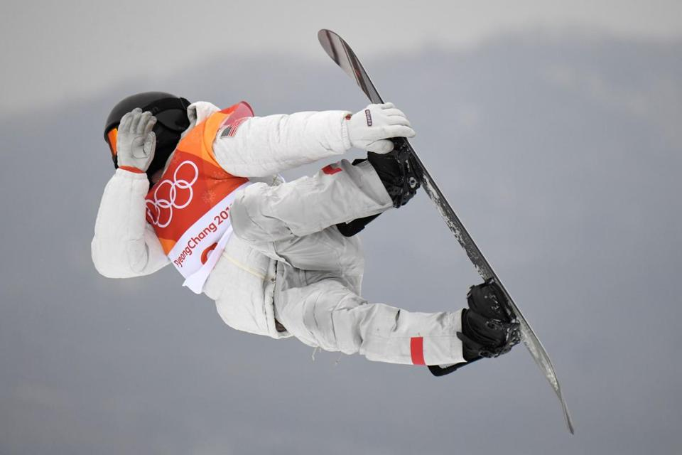 Shaun White competed to win the final of the men's snowboard halfpipe.