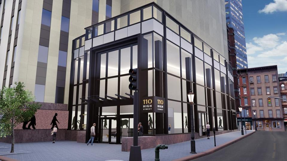 The design for a new lobby at 110 High Street.