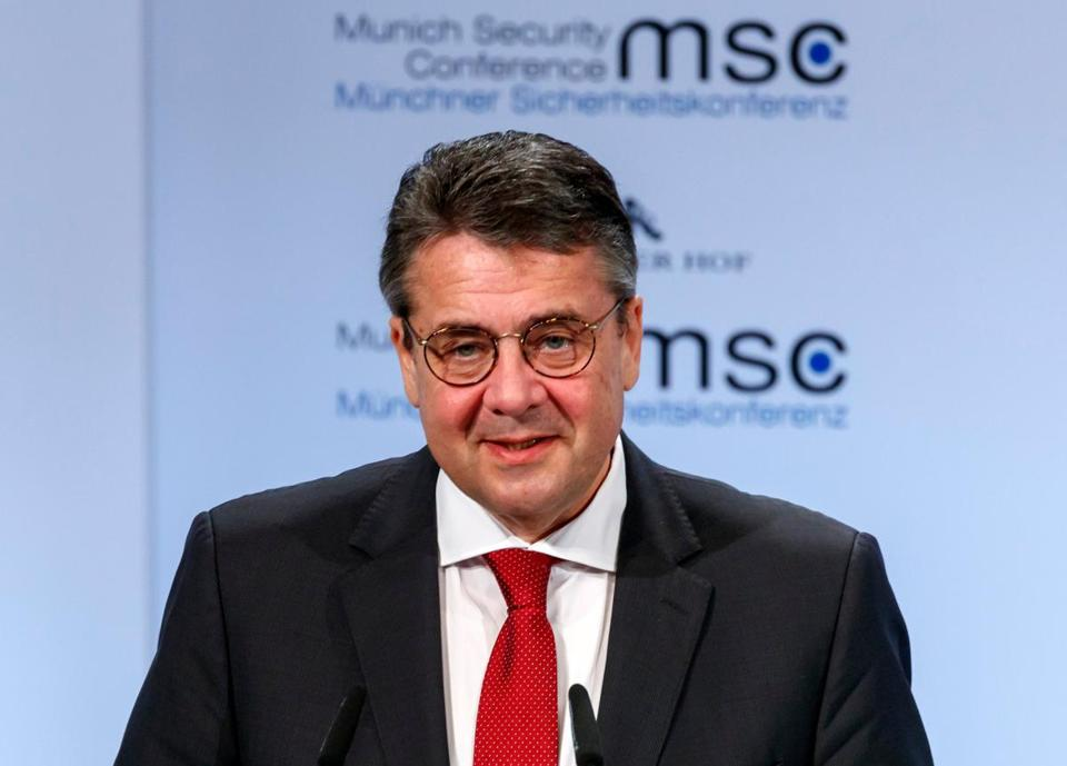 Foreign Minister Sigmar Gabriel of Germany spoke at the Munich Security Conference on Saturday.