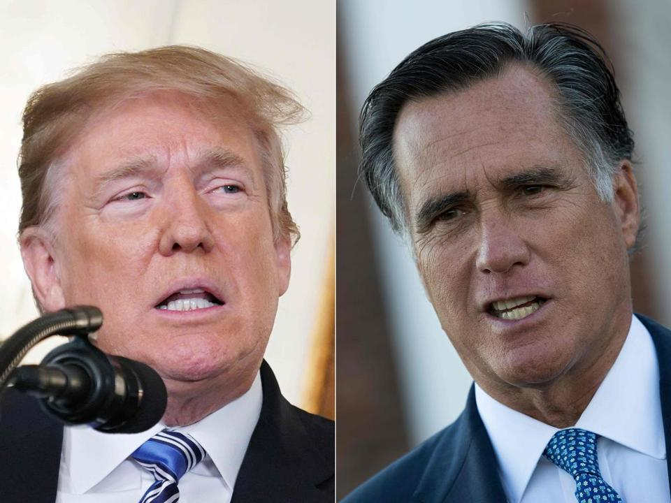 President Trump and Mitt Romney.