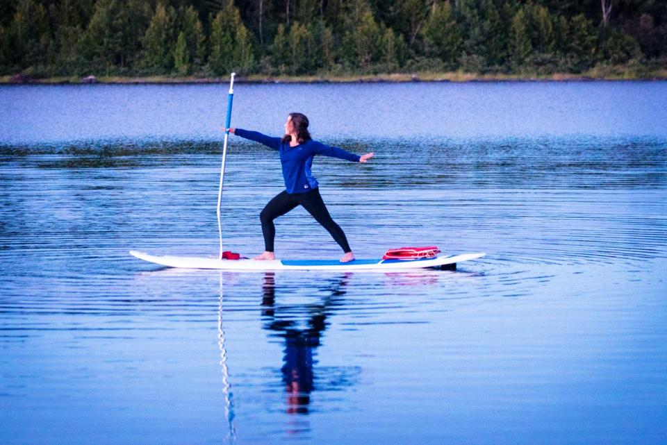 Beginning in July, and continuing through October, there are monthly yoga retreats at AMC Medawisla Lodge and Cabins in Greenville, Maine.