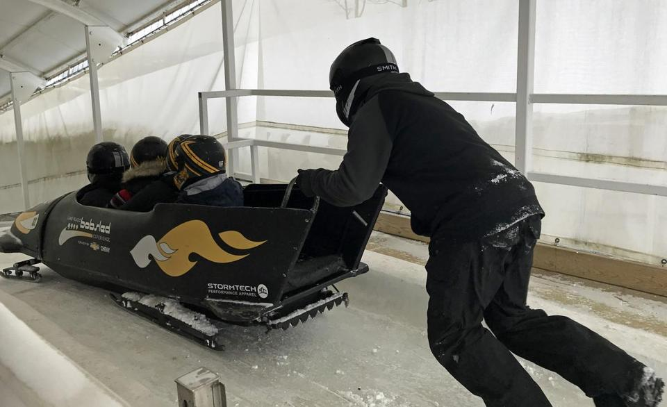 Experience a bobsled run on the track at the Olympic Sports Complex in Lake Placid, N.Y.