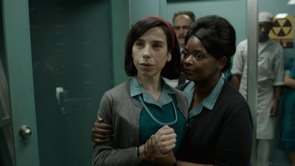 "Sally Hawkins (left) and Octavia Spencer in ""The Shape of Water."""