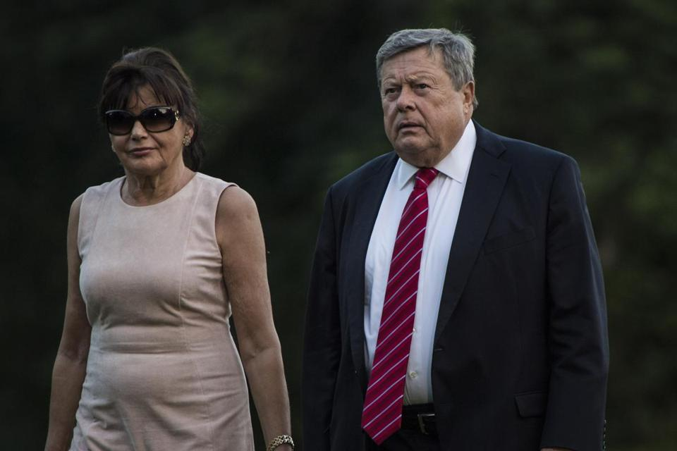 Amalija and Viktor Knavs, parents of first lady Melania Trump, obtained green cards to reside permanently in the United States.