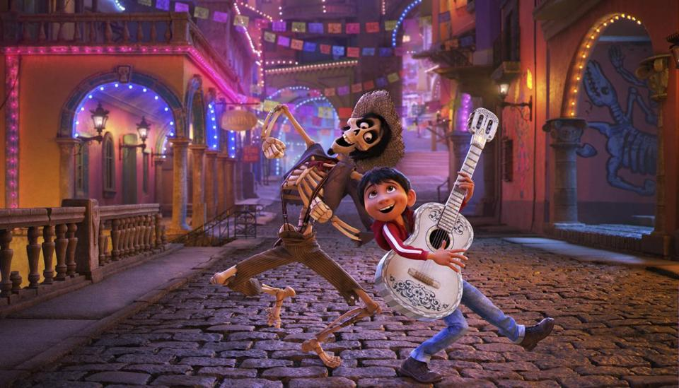 "The animated film ""Coco."""
