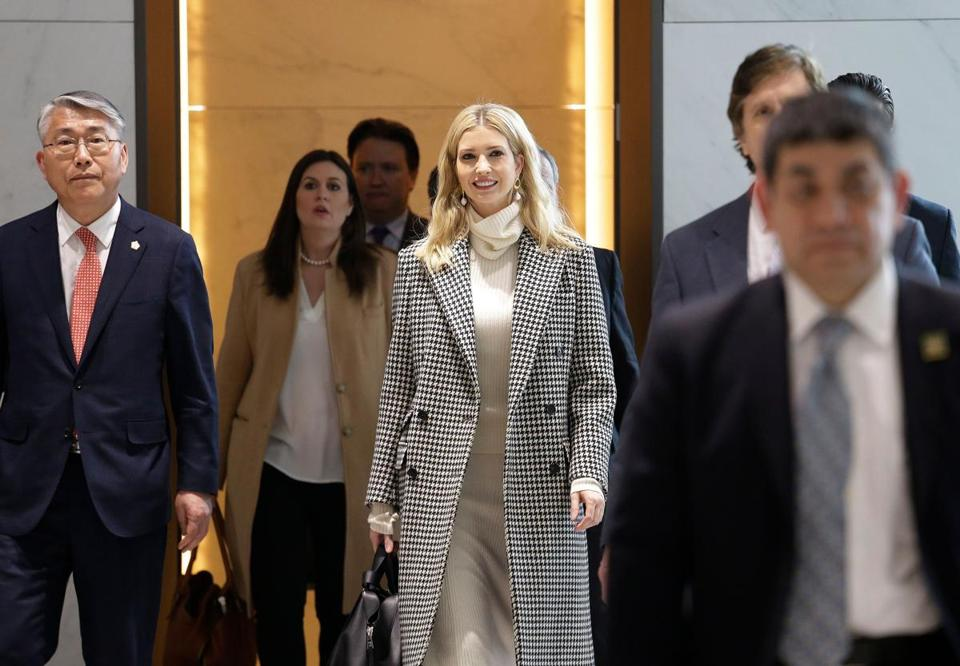 Ivanka Trump arrived for the Winter Olympics closing ceremony in Incheon, Korea, Friday.