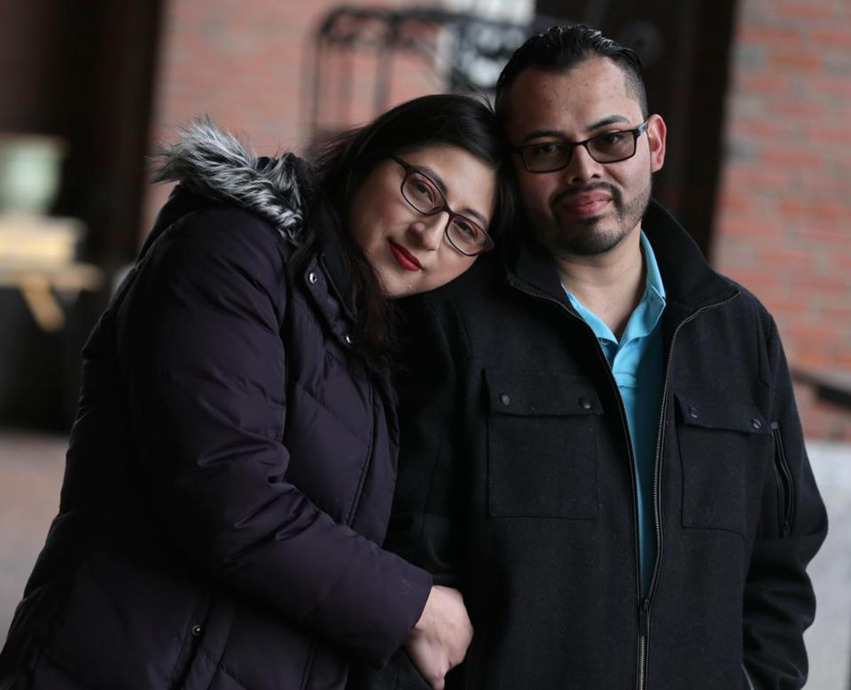 Lilian Calderon Jimenez (with her husband, Luis Gordillo, a US citizen) of Providence spent nearly a month in a Boston jail.