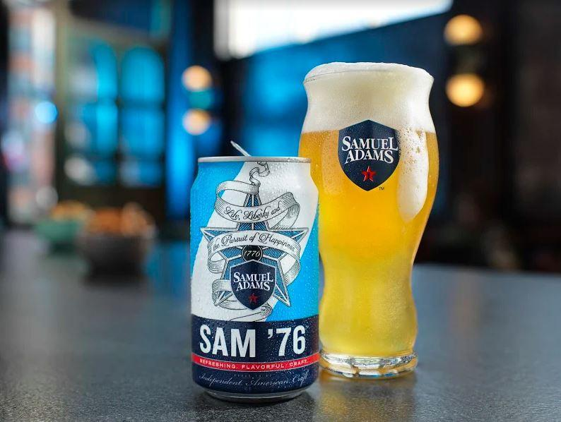 Boston Beer Company's Sam '76 is much less malty than its Boston Lager and is bright, rather